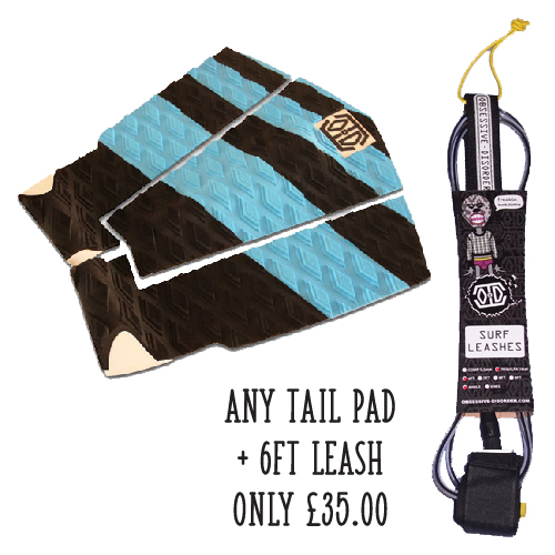 Obsessive Disorder surf leash and tail pad