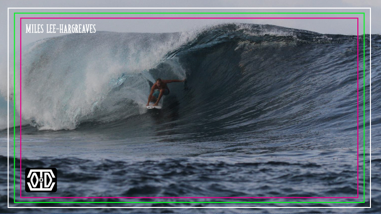 Miles Lee-Hargreaves surfing Indonesia