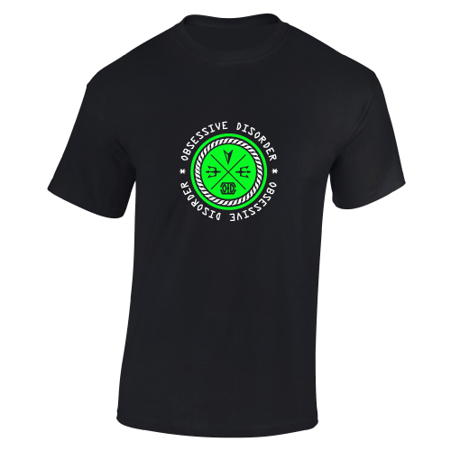 obsessive disorder connect t-shirt black