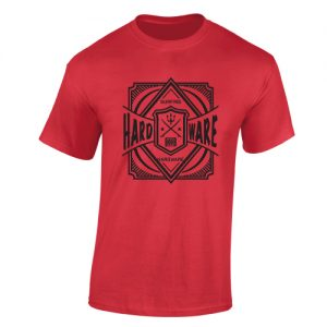 obsessive disorder hardware t-shirt red